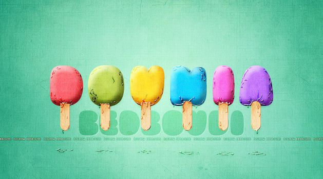 ICE CREAM text effect by Doundou