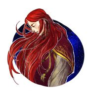 Maedhros under the starry sky by lilithran