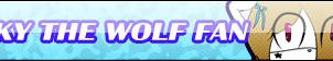 Sky the Wolf Fan Button-Request by Pascua-Tanya