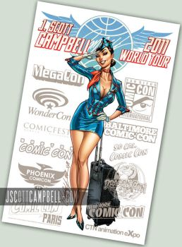 CamAm Stewardess by J-Scott-Campbell