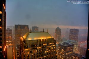 stormy Chicago by delobbo