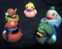 Mario Galaxy Ducks Commission by stardust4ever