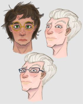 Drarry Doodles ft Glasses!Draco by carpemermaid