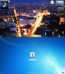 Belgrade night skyline desktop by LazyLaza