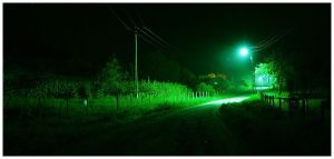 Night in the countryside by cipriany