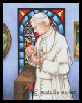 John Paul II With Rosary by natamon