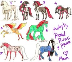 Adopts by moonfeather