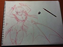 Morrigan for Mennyo WIP 02 by renecordova