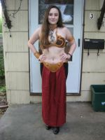Leia Slave Costume (Full view, before hair) by Rodenkovia