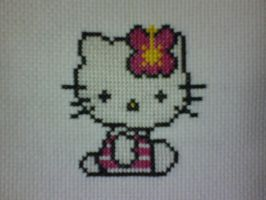 Hello Kitty Cross-Stitch by saber4734