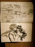 Moleskine Sketch 12 - Random Copic Pages and Flirt by Millennia91
