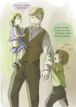 Al with EdWins kids by Fennethianell