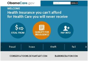 Healthcare.gov Failure by Conservatoons