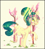 Flower blossoms by cappydarn