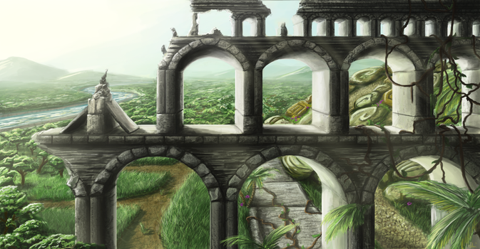 Old Aqueduct by dakki-dono