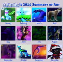 ajflipflop's 2014 Summary of Art by ajflipflop