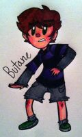 little teen Butane -colored- by ZACHARlE