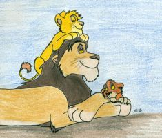 Father's Day in the Pridelands by wahyawolf