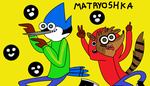 mordecai and rigby matryoshka by gakumiku