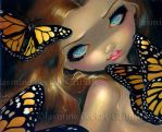 Nymph with Monarchs by jasminetoad