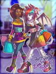 Monster High- Clawdeen andKimberly for Zealothia by RavenNoodle
