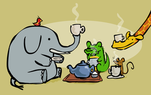 Teatime at the Zoo by FancyFerret