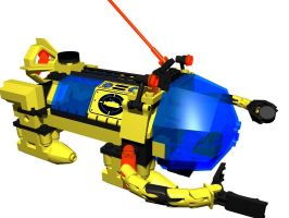 Yellow Lego Submarine by pchaos720