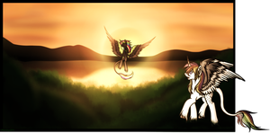 YCH Completed: Hidden Dancer At Sunset by PSeishiyo