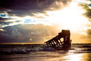 The wreck of the Peter Iredale by DanielGliese