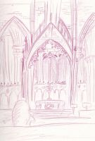 Drawing Class: The Cathedral sketch by kibadoglover45