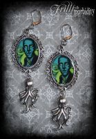 Lovecraft Earrings by FrillsandMorbidity