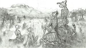 Input for ICDC: Cheetah Family by OliveRdragon