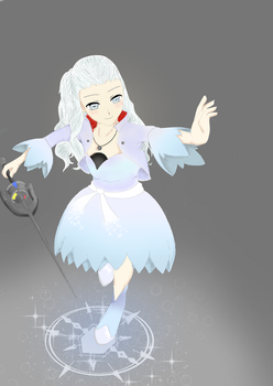 RWBY (weiss) Reaching up by Emilyh148