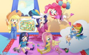 Comission - MLP Babies Remake by Shinta-Girl