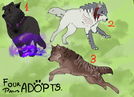 Wolves Adoptables OPEN! by FourPawsADOPTS