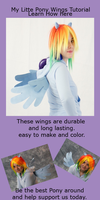 My Little Pony wing Tutorial by MajesticStock