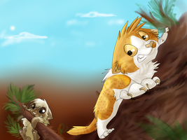High in the Treetops by rainwolfeh