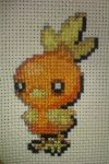 Torchic Cross Stitch Finished by GaaraxHinata6666