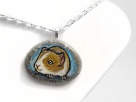 Guinea Pig Pendant Necklace by sobeyondthis