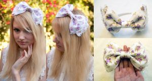 Lavender Flower Bow by nihilistique