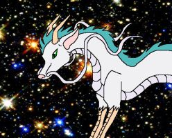 Haku in his dragon form by aquaheartthecat