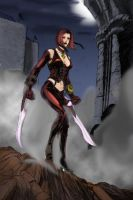 bloodrayne by croneval colored by dineasty