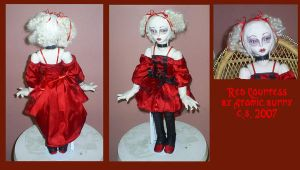 Red Gothic Lolita dollie by AtomicBunny