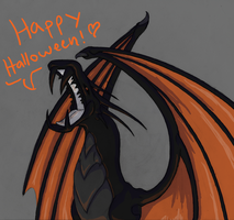 Joseph the Cuddly Halloween Dragon by AllRocksGoToHeaven