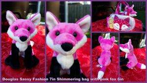 Douglas sassy Fashion shimmering bag with pink Fox by Vesperwolfy87