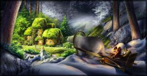 Magical forest school by Tyami