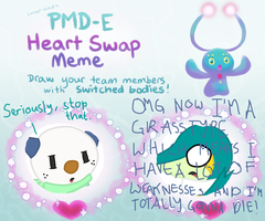 PMD-E Heart Swap Meme: Team Victory Blades by Thunder-Milotic