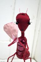 ant girl textile  sculpture by FushiaGold