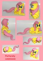 FLUTTERSHY commission sculpture FIM My Little Pony by MadPonyScientist