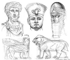 Statue Sketches by stuffaeamade